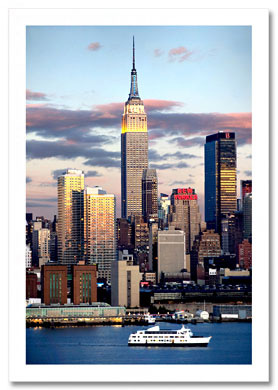 Empire State Building New Yorker NY Christmas Card HPC-2142