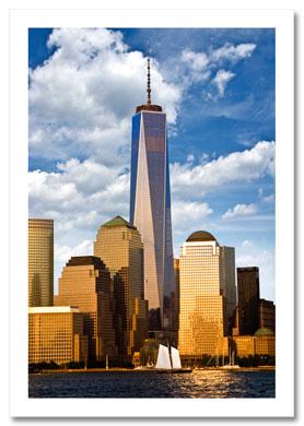 Freedom Tower Downtown Manhattan NY Christmas Card HPC-2015
