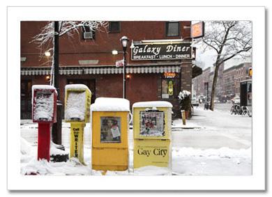 Galaxy Diner Winter NY Christmas Card HPC-2565