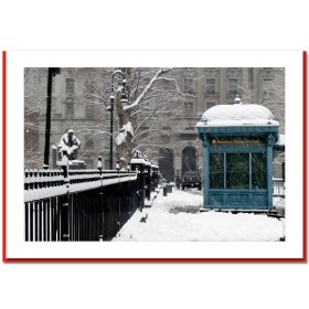 Brooklyn Bridge Station - NYC Christmas Photo Cards HPC2317