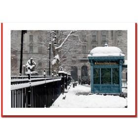 Brooklyn Bridge Station - NYC Christmas Photo Cards HPC2317