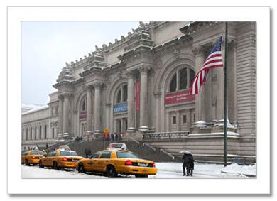 Metropolitan Museum Winter NY Christmas Card HPC-2392