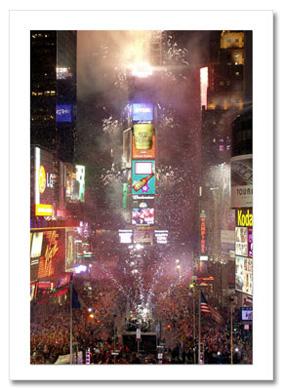 New Year Celebration Times Square NY Christmas Card HPC-2203