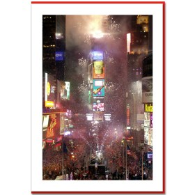 New Year Eve on Times Square Handmade Photo Card HPC2203