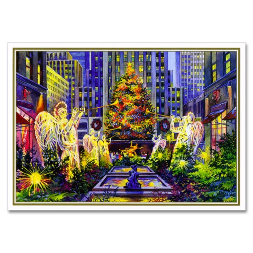 Rockefeller Center Christmas Tree NY Christmas Cards BGC109