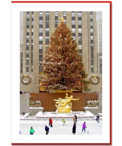Rockefeller Center Skating Rink Handmade Photo Card HPC2956