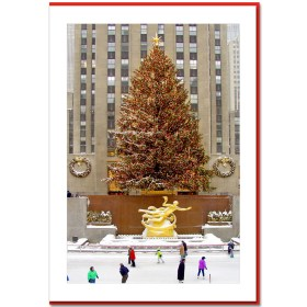 Rockefeller Center Skating Rink Handmade Photo Card HPC2956