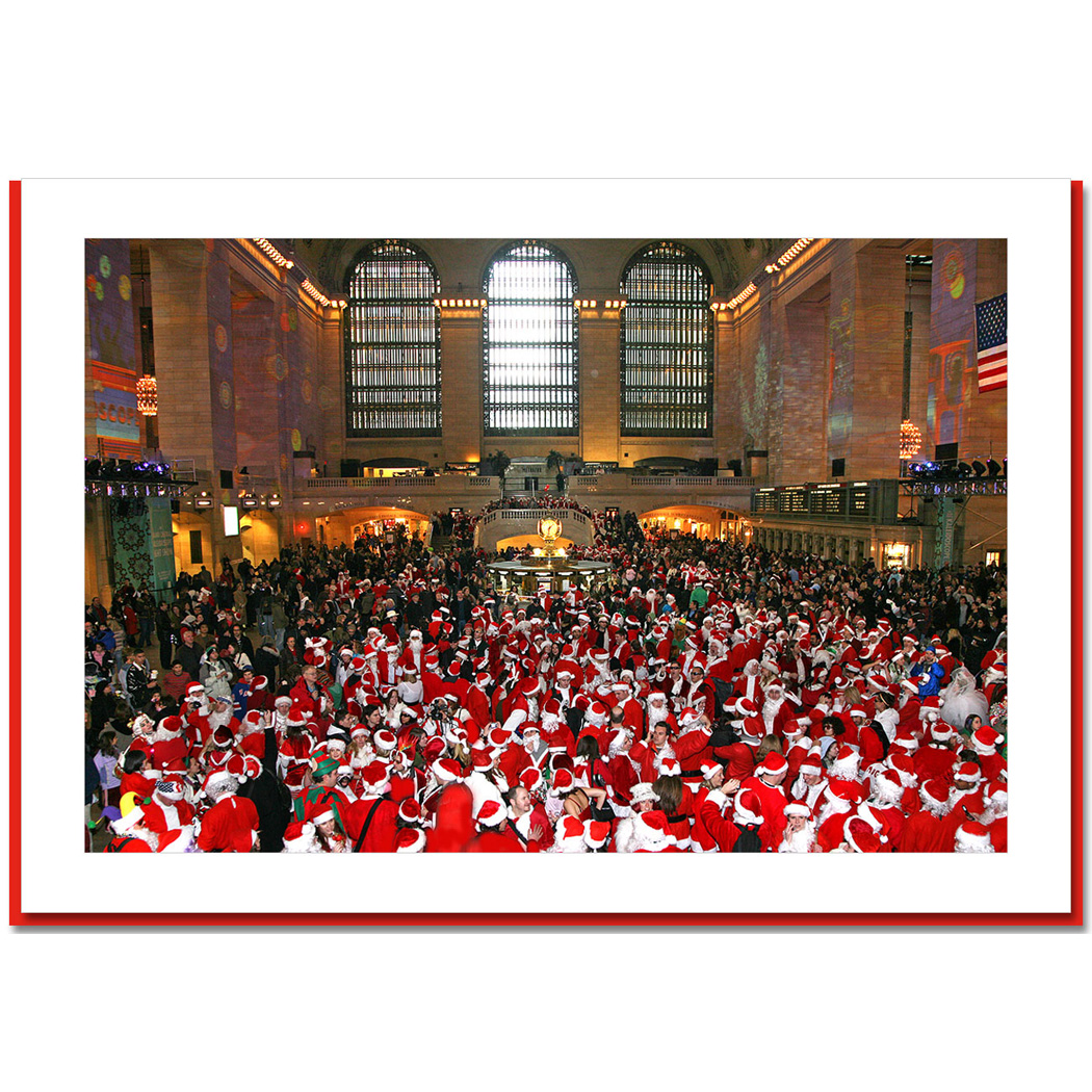 Santa Convention at Grand Central New York – NY Christmas Photo Card