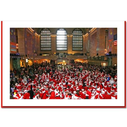 Santa Convention at Grand Central Handmade Photo Card HPC2333