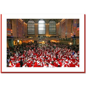 Santa Convention at Grand Central Handmade Photo Card HPC2333