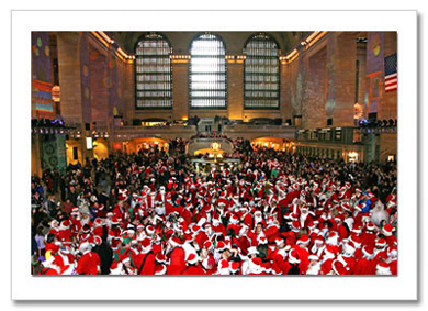 Santas Convention Grand Central Terminal NY Christmas Card HPC-2333