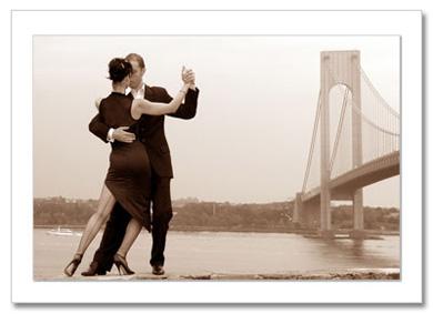 Tango by Verrazano Bridge NY Christmas Card HPC-2721