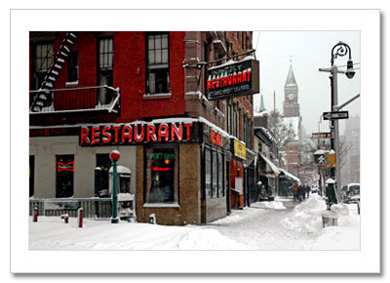 Waverly Restaurant in Greenwich Village NY Christmas Card HPC-2413
