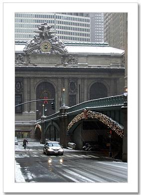 Winter at Park Ave Grand Central NY Christmas Card HPC-2335