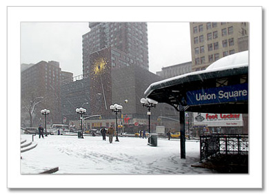 Winter on Union Square NYChristmas Card HPC-2243