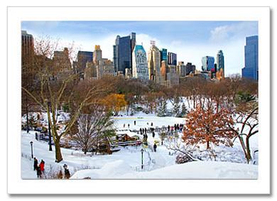 Wollman Rink Panorama Central Park NY Christmas Card HPC2824