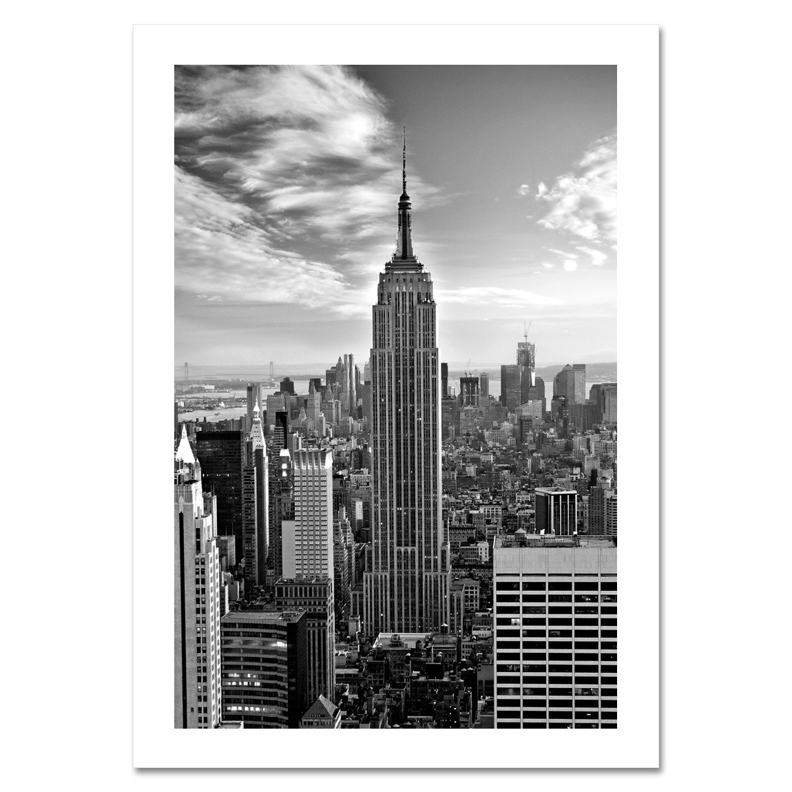 empire state building black and white nyc christmas cards hpc 2019