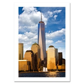 Freedom Tower Sunset NYC Christmas Cards HPC-2015