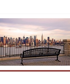 View at Midtown Manhattan from Bench Handmade Photo Christmas Card HPC2132