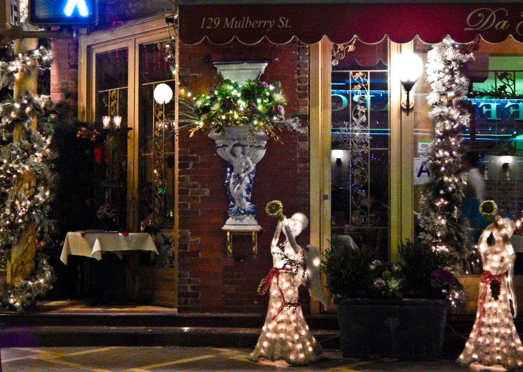 Christmas Angels on Mulberry Street Little Italy New York