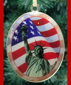 Statue of Liberty Flag Christmas Ornament CO48301 from ny christmas gifts