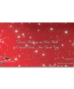 Santa on Poet Walk in Central Park, New York - Money Gift Card Holders Set of 6
