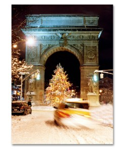 MC-3201 Washington Arch Christmas Tree Holidays Boxed Cards set of 12 from NY Christmas Gifts Store