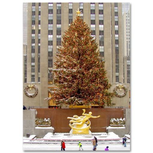 MC-3205 Rockefeller Center Skating Rink Christmas NY Holidays Boxed Cards from NY Christmas Gifts Store
