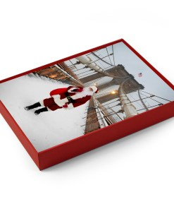 BMC3214 Santa on Brooklyn Bridge Holidays Greeting Boxed Cards from NY Christmas Gifts