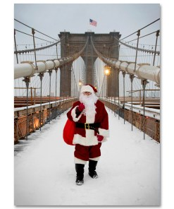 BMC3214 Santa on Brooklyn Bridge Holidays Greeting Boxed Cards from NY Christmas Gifts