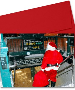BMC3208 Santa on Union Square Subway Station Boxed Cards from NY Christmas Gifts