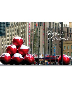 MCH-3207 Christmas Decorations NYC Money Greeting Card from NY Christmas Gifts