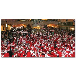 Santacon in Grand Central – Holidays Money Greeting Cards Holders Set of 6