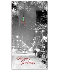 MCH-3306 Empire State Building NYC Christmas Money Card Set of 6 from NY Christmas Gifts