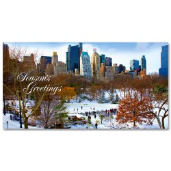 Holidays Money Greeting Cards Holders – Wollman Rink in Central Park Snow –  Set of 6 Cards, 6 Envelopes. Holidays in NYC Collection (Copy)