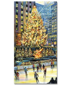 NYC Christmas Money Cards Holders Rockefeller Center Skating Rink Set of 6 from NY Christmas Gifts
