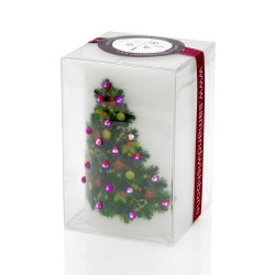 Merry Christmas Decorated Tree Luxury Candle 2×3 by Sam & Wishbone from NY Christmas Gifts boxed