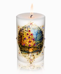 Rockefeller Center Skating Rink Luxury Christmas Candle 2x3 by Sam and Wishbone from NY Christmas Gifts
