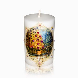 Rockefeller Center Skating Rink Luxury Christmas Candle 2×3 by Sam and Wishbone from NY Christmas Gifts