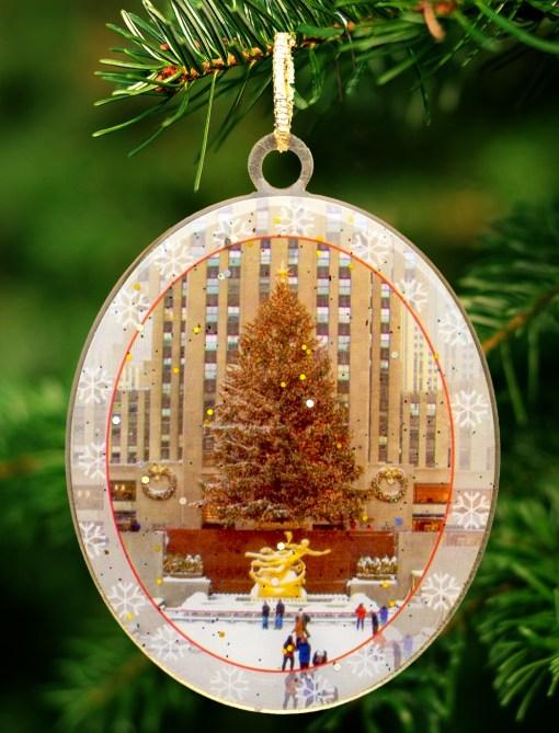 New York Christmas Ornament Rockefeller Skating Rink