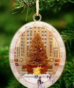 New York Christmas Ornament Rockefeller Skating Rink
