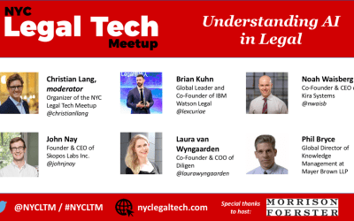 "NYCLTM ""Understanding AI in Legal"" Panel (3/27/18)"