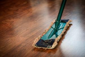 Mop cleaning the floor