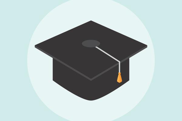 a student's graduation hat