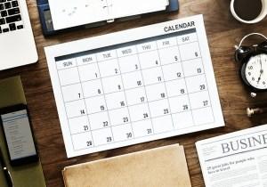 a calendar for scheduling