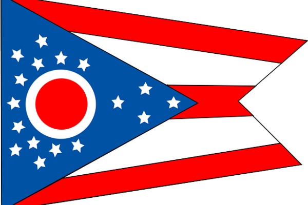 Ohio flag for moving to Ohio for college.