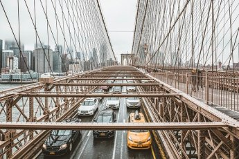 Traffic jam on Brooklyn bridge