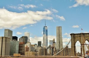 A view of the New York City skyline.