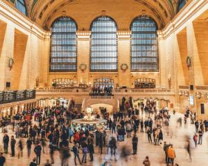 Overly crowded Grand Central station in NYC.