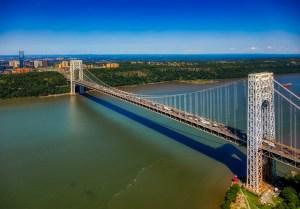 George Washington Bridge on the Hudson River.